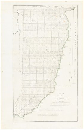 Early Plat Map Of Ohio 1814