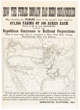 Railroad Lands Stolen From The People, 1884