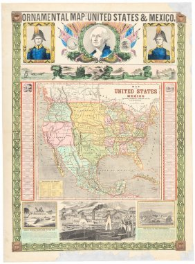 Broadside Map For Mexican-american War