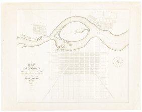 Rare Map Of Ohio Towns
