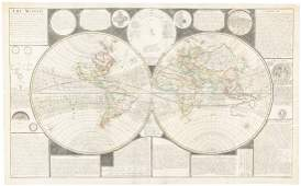 Rare map of the World 1738