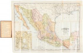 Map Of Mexico 1892