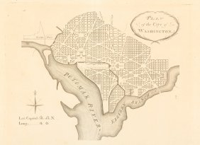 First Publication Of Ellicot's Plan Of Washington D.c.