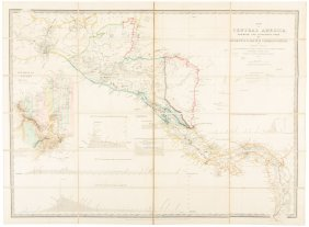 Wyld Map Of Central America & Isthmuse Crossing 1852