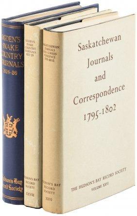 Three Volumes By The Hudson's Bay Record Society