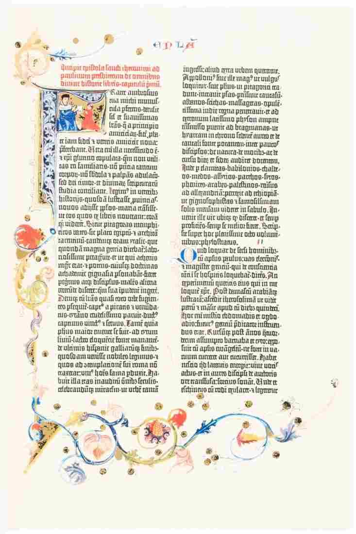 Pagaent Books Facsimile of the Gutenberg Bible