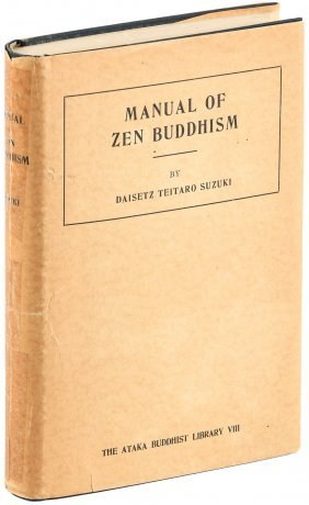 Manual Of Zen Buddhism, First Edition With Dust Jacket