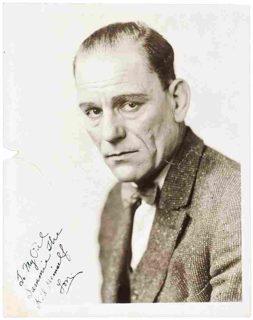 Signed photograph of Lon Chaney