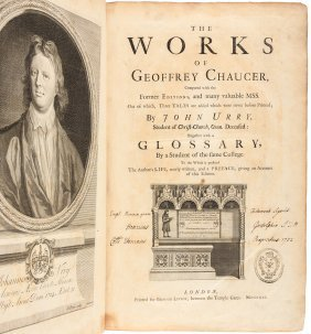 Works Of Geoffrey Chaucer 1721 First Urry Edition