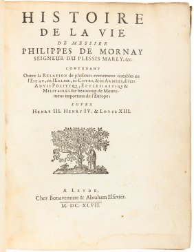 Life Of Du-plessis-mornay 1647