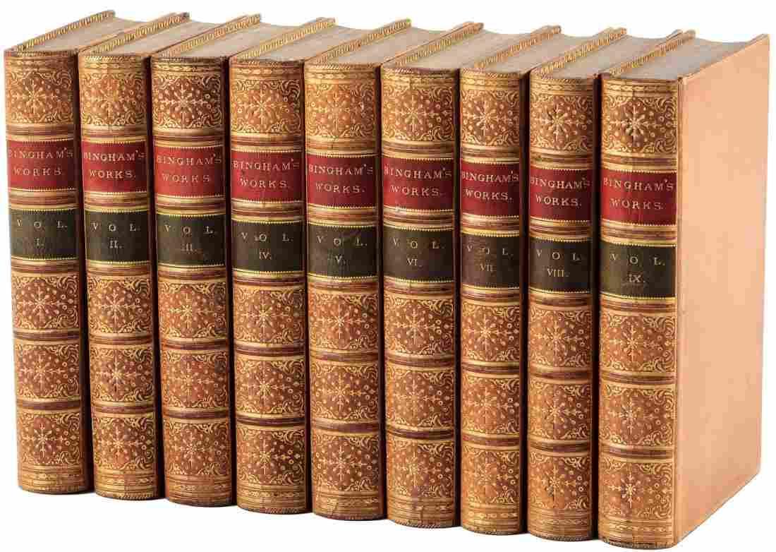 Works of Joseph Bingham 9 finely bound volumes
