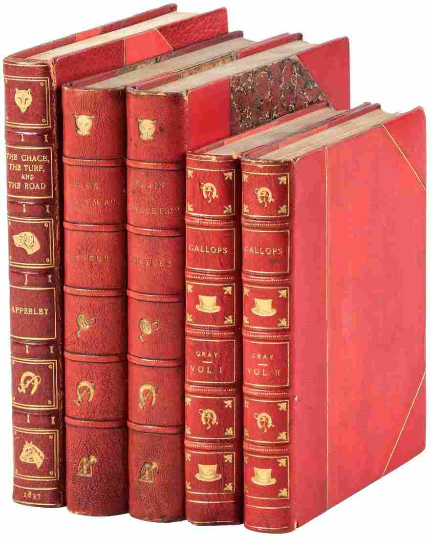 Four sporting works finely bound