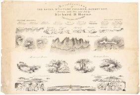 Rare Broadside By Richard Henry Horne