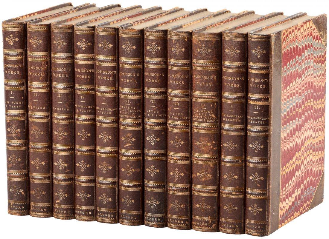 Works of Samuel Johnson Pickering Edition finely bound