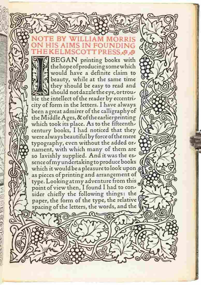 The last book from the Kelmscott Press