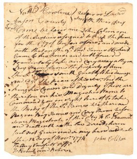 """1774 Legal Document About """"slave Stealing"""" In Colonial"""