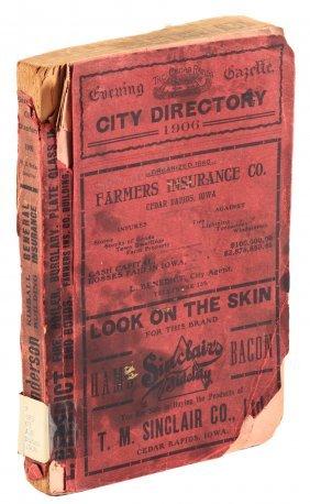 The Evening Gazette's City Directory Of Cedar Rapids,
