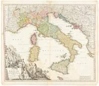 Homann map of Italy c.1730