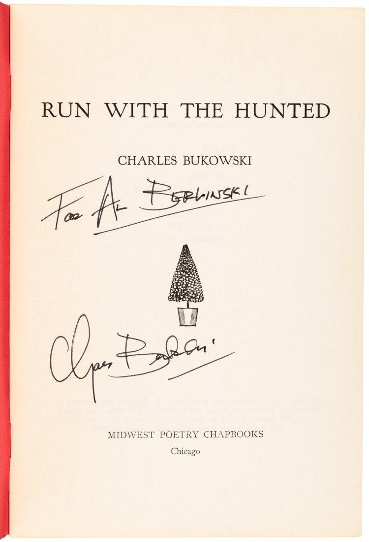 Bukowski, Charles Run with the Hunted chapbook - signed