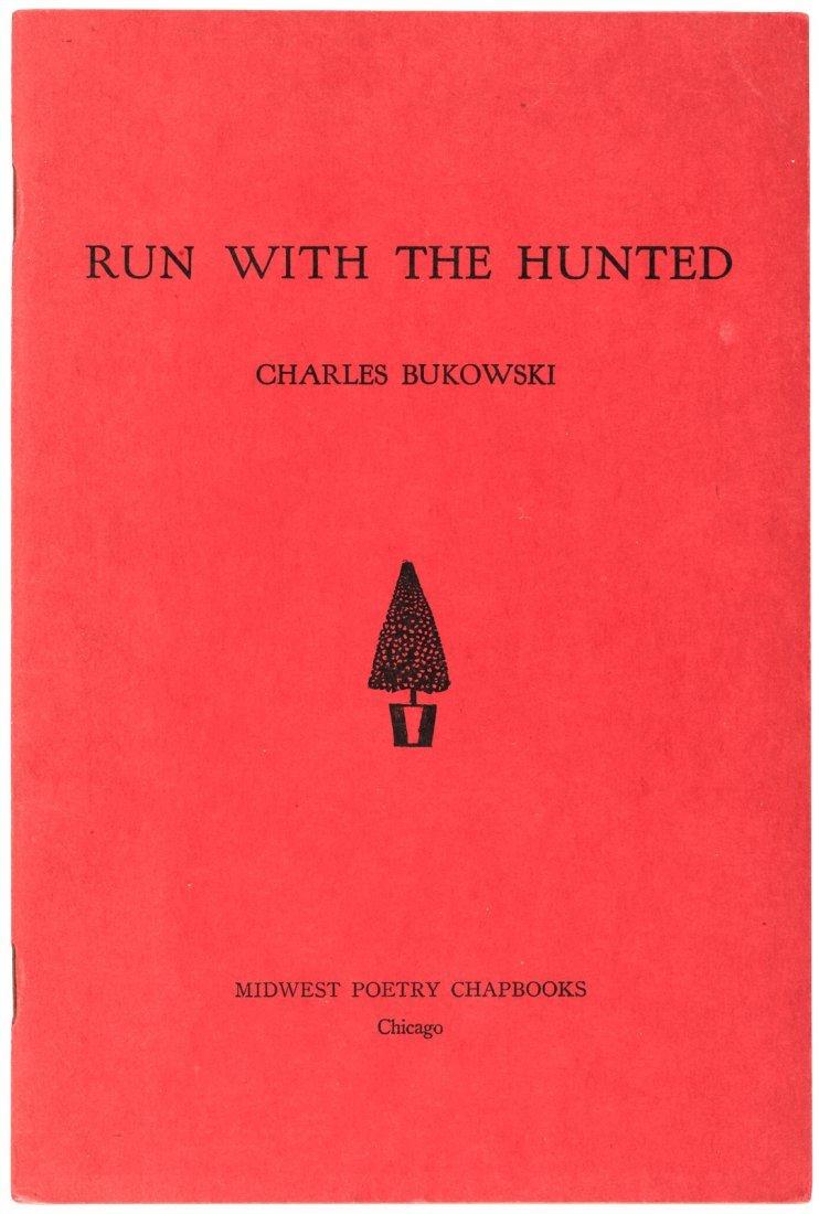 Bukowski, Charles Run with the Hunted chapbook - signed - 2