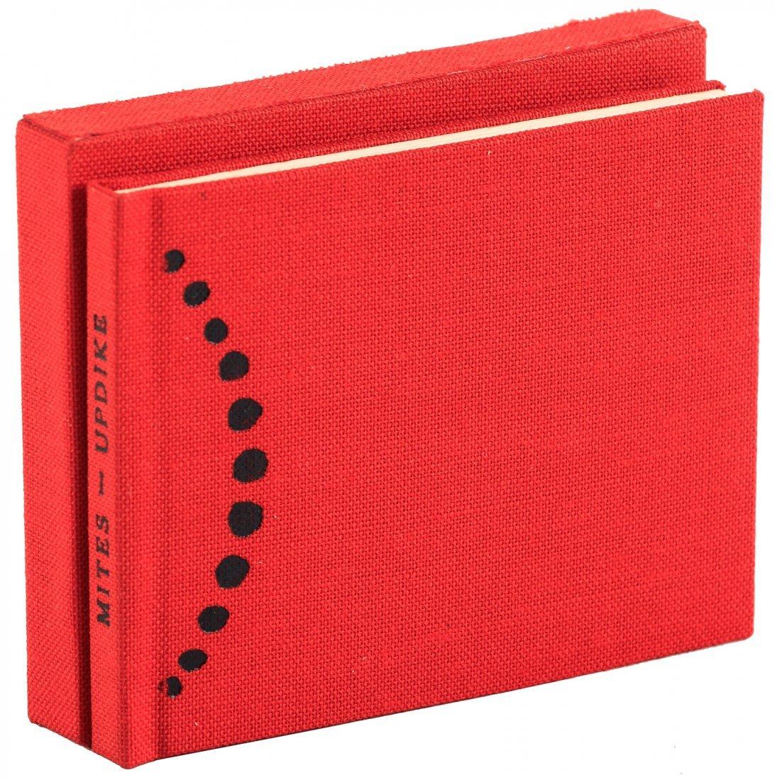 John Updike miniature book Mites One of 26