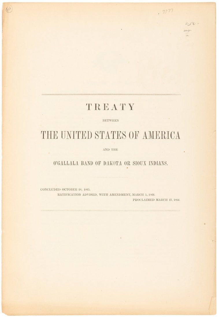 Treaty Between the US and the Sioux, 1866