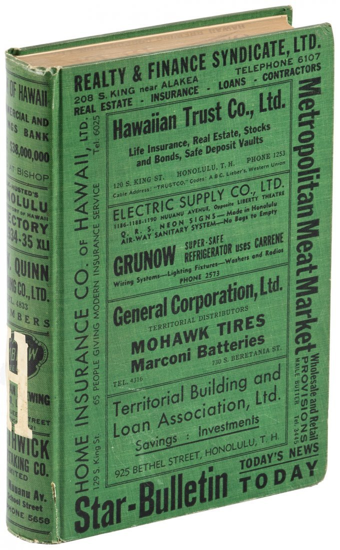 Polk-Husted Directory Co 's Directory of Honolulu ,