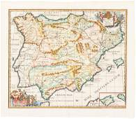 Cluver map of Ancient Spain