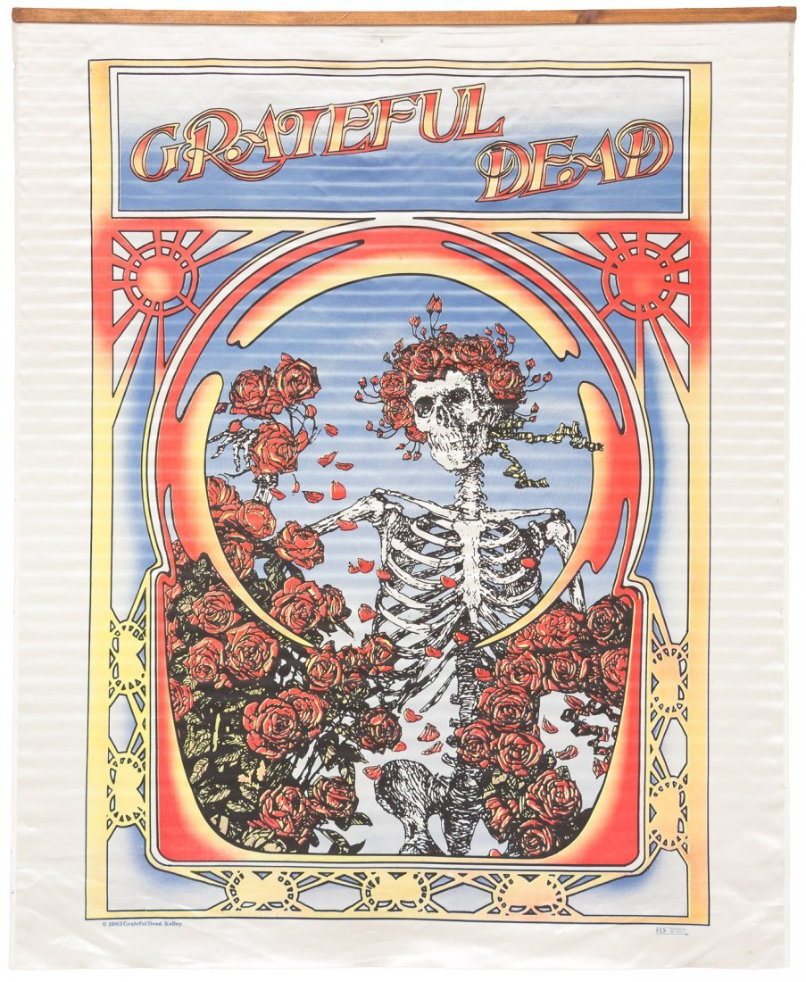 Alton Kelley and Stanley Mouse Grateful Dead banner