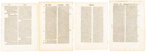 Four leaves of Swiss 15th century printing