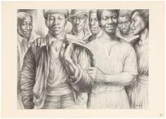 Six lithographs by Charles White