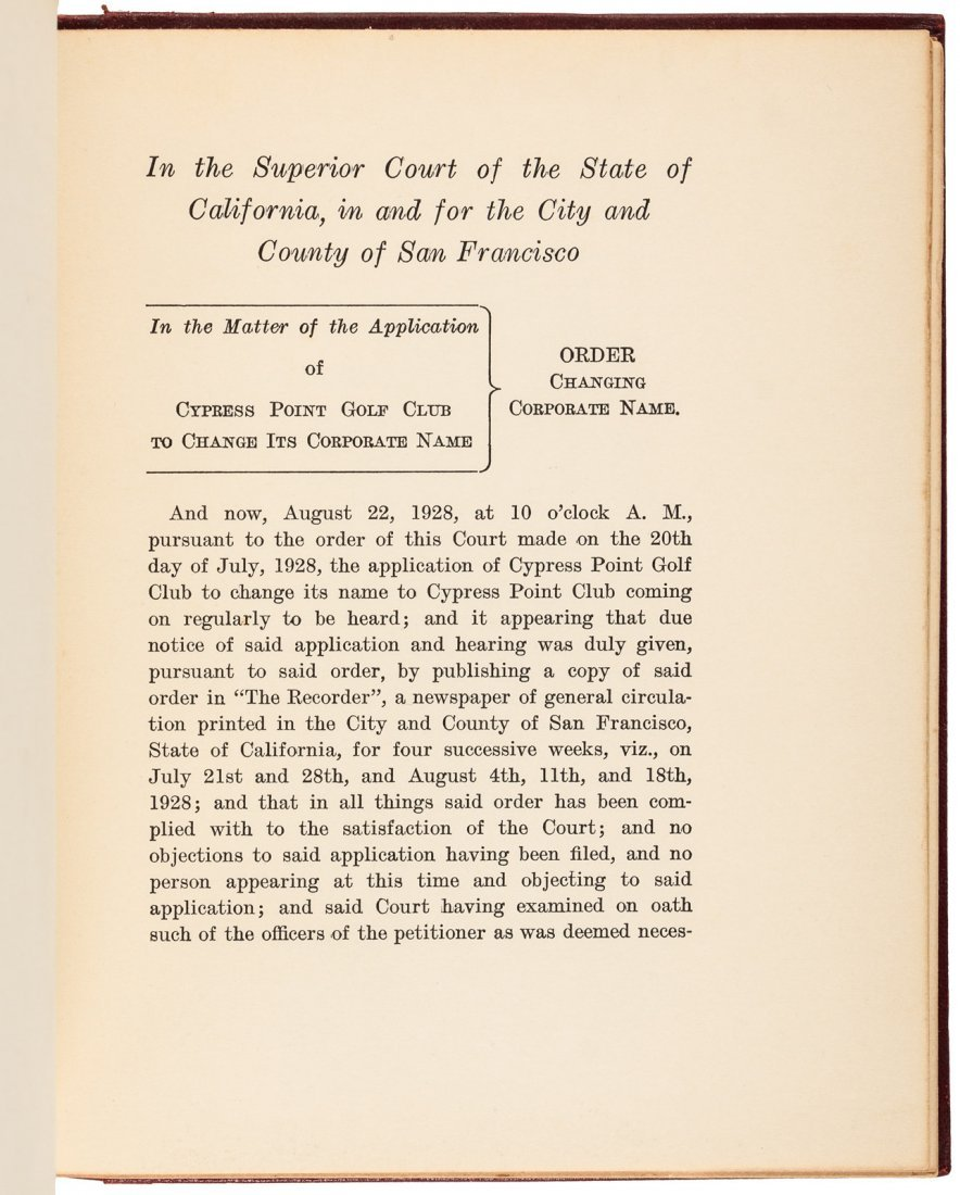 Cypress Point Constitution & By-Laws 1928 - 3