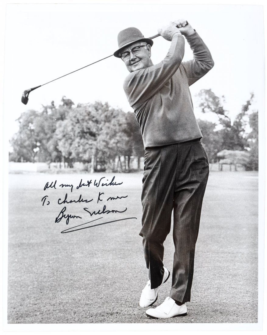 Signed photograph of Byron Nelson