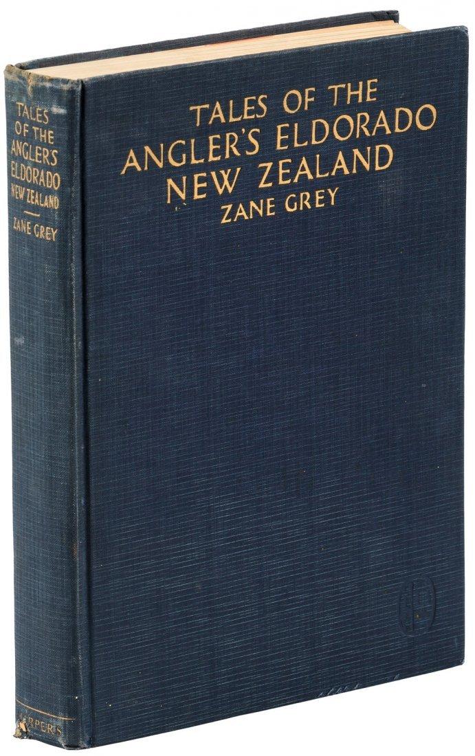 Zane Grey, Tales of the Angler's Eldorado, Signed