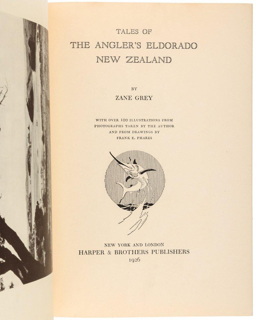 Zane Grey, Tales of the Angler's Eldorado, Signed - 2