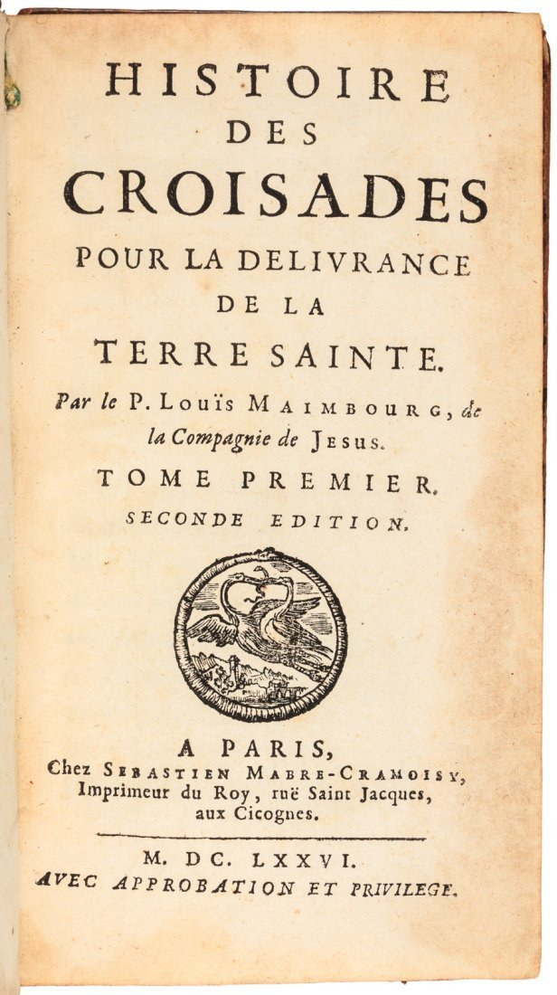 Maimbourg's History of the Crusades 1676 - 2