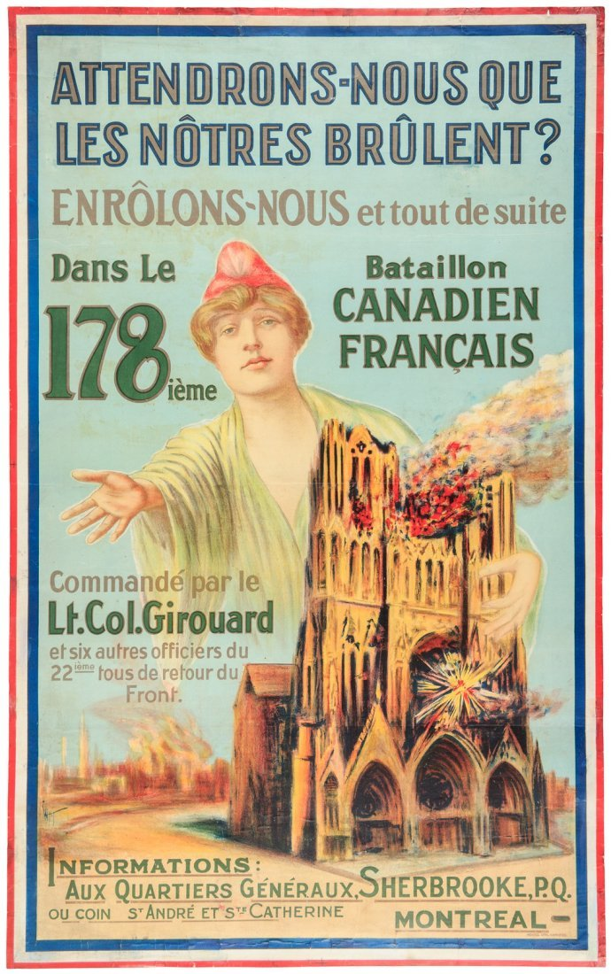 World War I French Canadian poster
