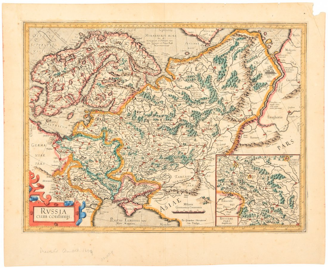 Mercator map of Russia