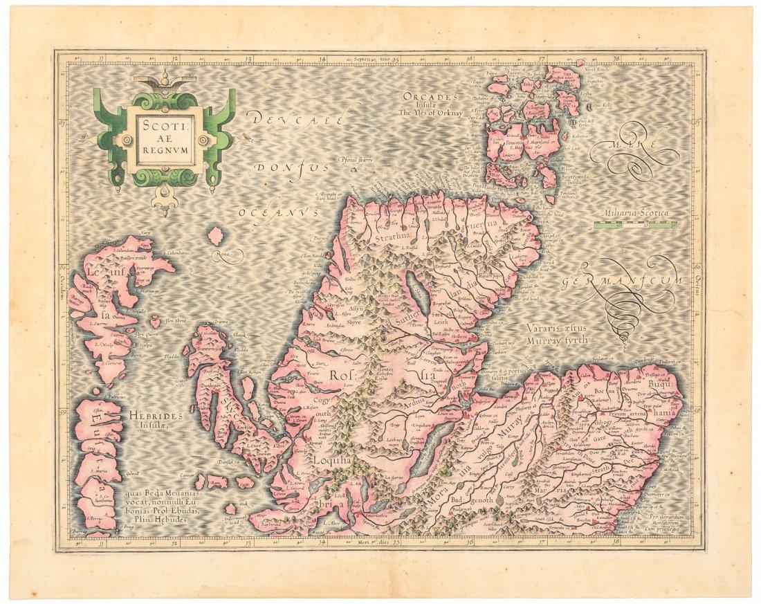 Mercator map of northern Scotland