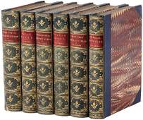 Six volumes by Charles DIckens nicely bound