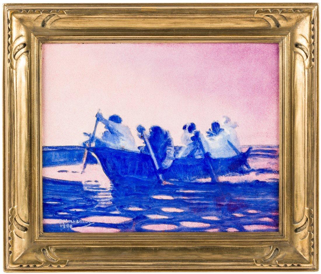Original oil painting by Alaskan artist Fred Machetanz