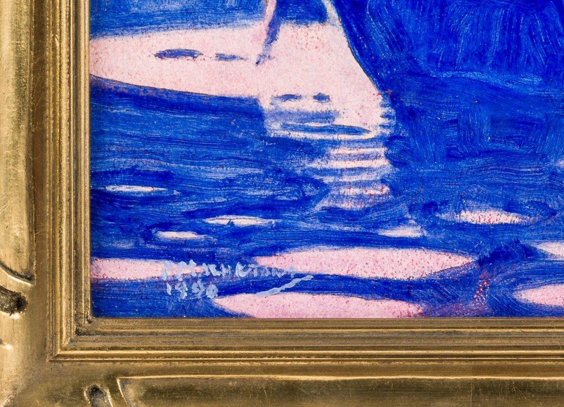 Original oil painting by Alaskan artist Fred Machetanz - 2