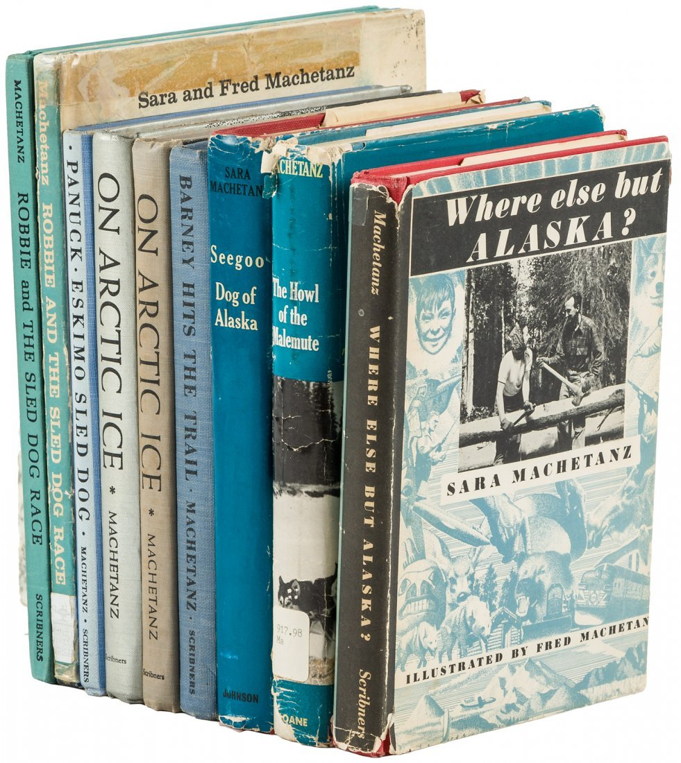 Nine books signed by artist Fred Machetanz