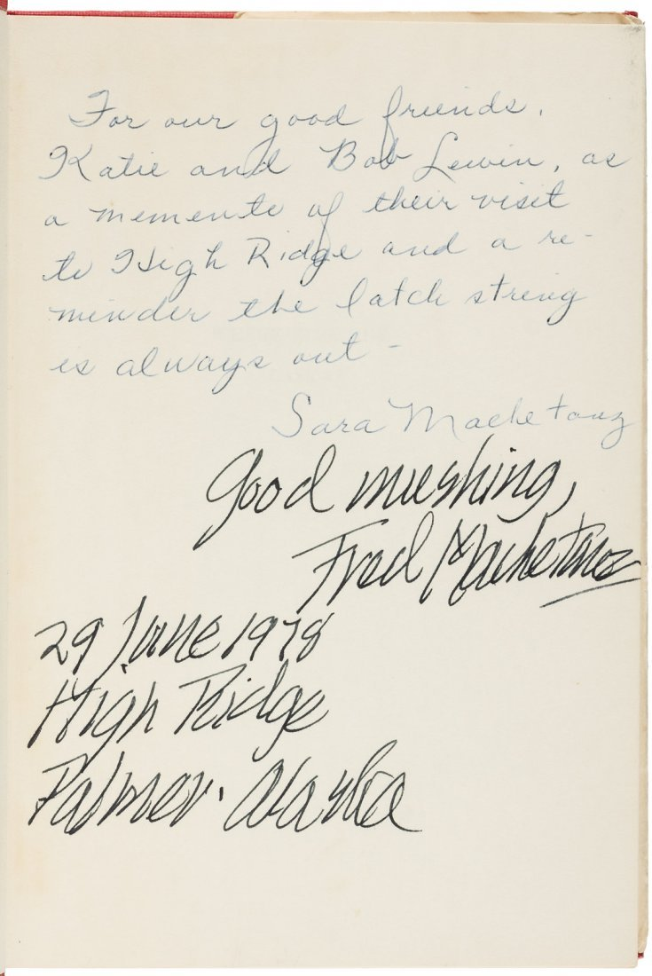 Nine books signed by artist Fred Machetanz - 2