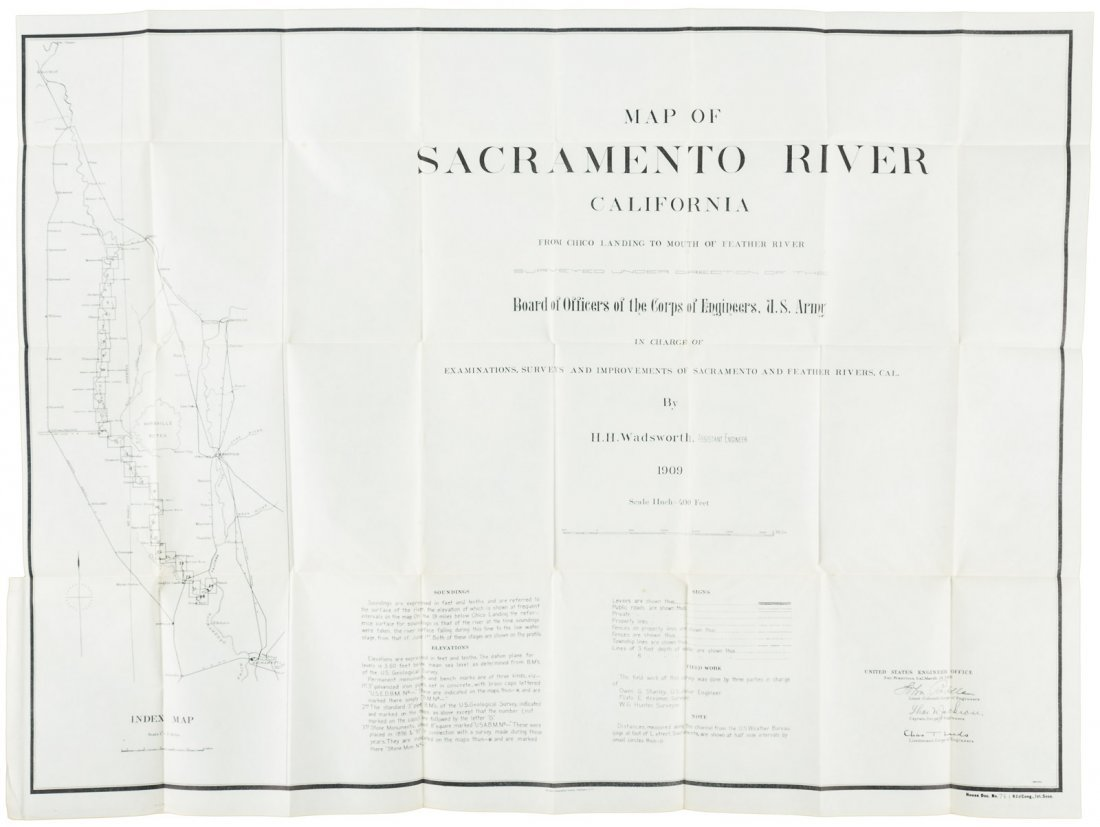 Sacramento River Survey. 1911, 31 maps.