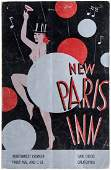 Art Deco menu of 1930s San Diego Theatre Night Club