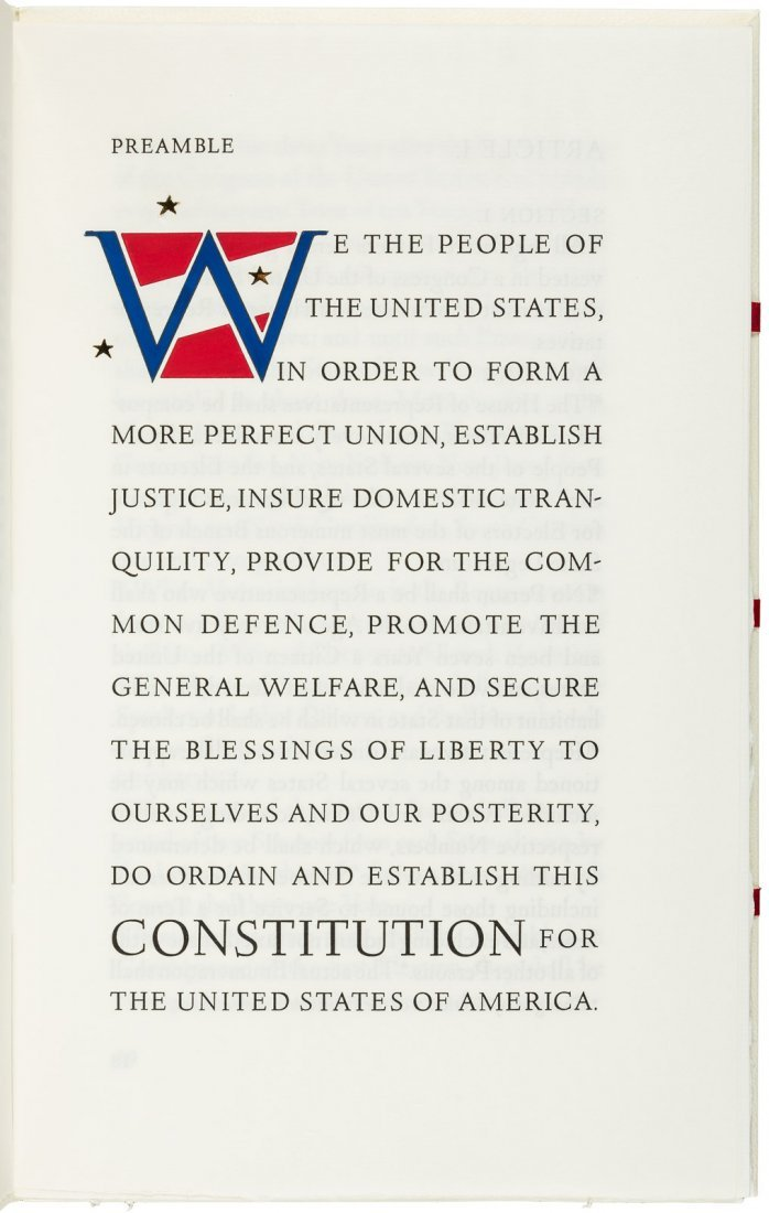 Constitution of the United States, Arion Press