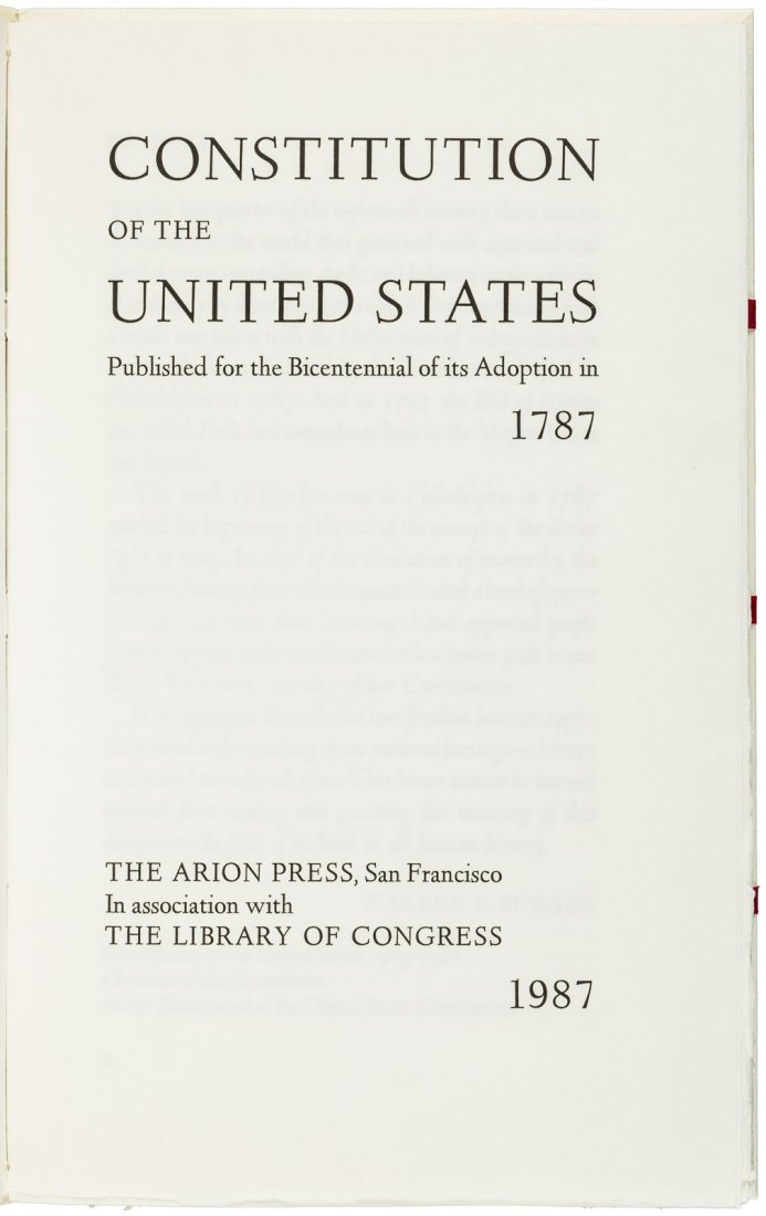Constitution of the United States, Arion Press - 4