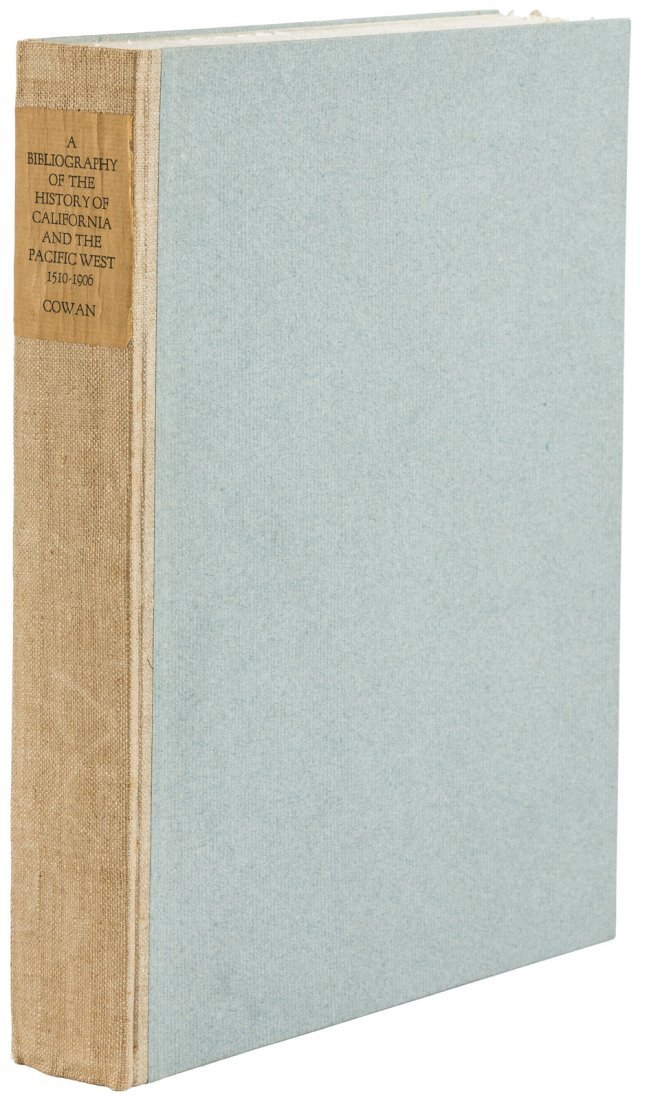 First Edition of Cowan's Bibliography of California