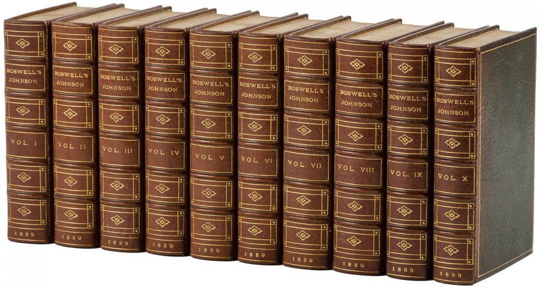 Boswell's Life of Johnson finely bound